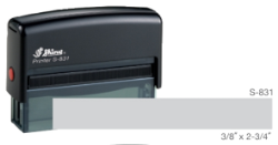 S-831 - S-831 Custom Self-Inking Stamp